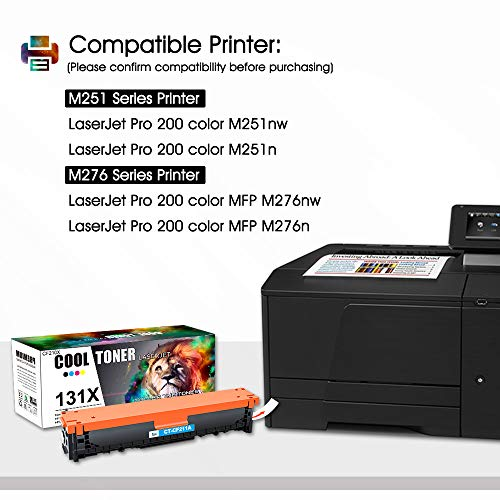 Cool Toner Remanufactured Tonerkartusche for für HP 131X 131A CF210X CF210A für HP Laserjet Pro 200 Color MFP M276nw M276n M251n M251nw M276 M251, 128A CE320A CM1415FN CP1525N, 125A CB540A CP1215