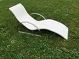 Lounge-Liege Sonnenliege aus Beton mit Edelstahl-Untergestell