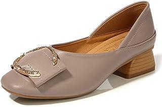 [イグル] パンプス 太ヒールス クエアトゥ ミドルヒール ラインストーン グリッター 疲れにくい 小さいサイズ 大きいサイズ 金具付き 女子 上品 細見え エレガント 婦人靴 浅履 甲浅 レディース 可愛い 軽い クラブ