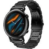 Songsier Correa Compatible con Huawei Watch GT 2 42mm, 20 mm Correa de Repuesto de Acero...