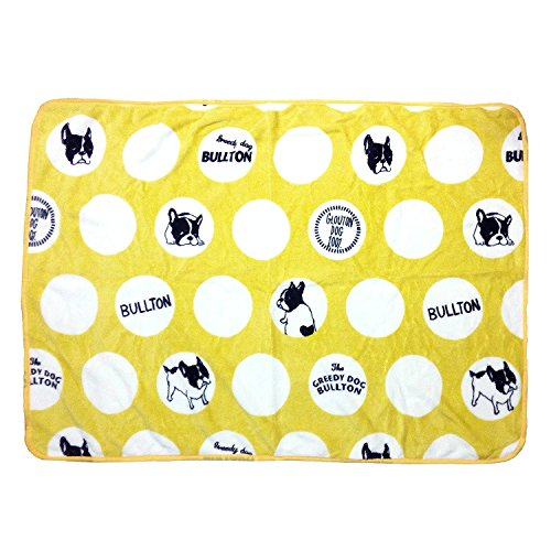 MSFREN Frenchie French Bulldog Super Soft Fleece Yellow Pet Bed Blanket