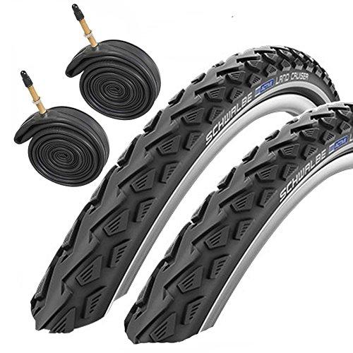Schwalbe Land Cruiser 26' x 2.0 Mountain Bike Tyres with Presta Tubes (Pair)
