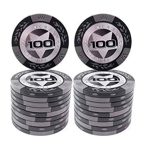 COSDDI 20 Stück Pokerchips Casino Club Pokerchips Bulk - Wählen Sie die Stückelung ($100)