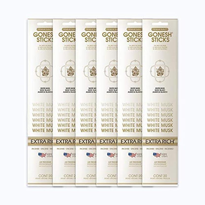 あごひげリゾートしつけGONESH インセンススティック WHITE MUSK ホワイトムスク 6パック120本組