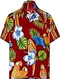 LA LEELA Pulsante Hawaiano Uomini Likre di Down Manica Corta Camicia Aloha Beach pocket6xl