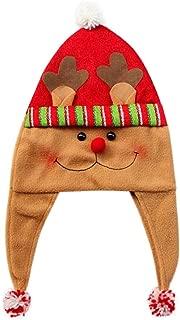 Merry Christmas Party Hat Fashion Santa Claus Hats Xmas Cap Brown