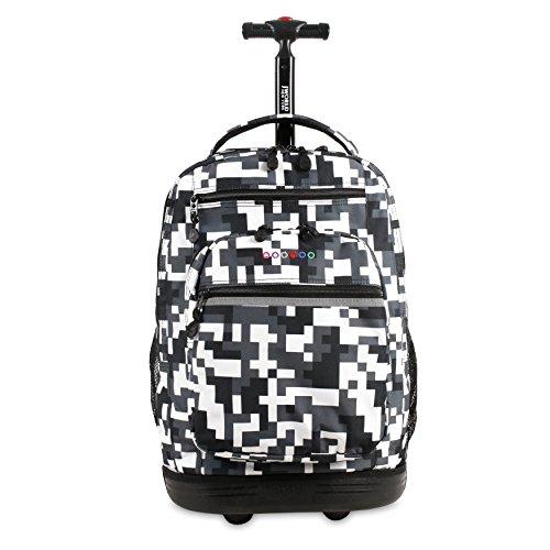 J World New York Sundance Laptop Rolling Backpack, Camo, One Size