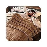 Colourful Day-quilt-sets Colcha de Terciopelo Tallada para sofá, Cama, avión o Viaje, Funda de edredón de algodón