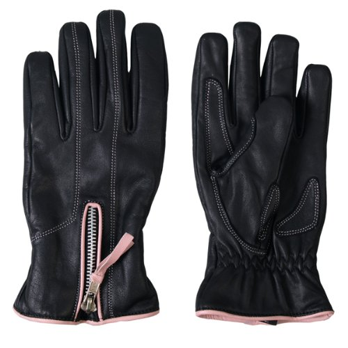 Hot Leathers Women's Driving Gloves with Pink Piping (Black/Pink, Medium)