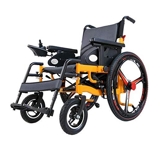 Candyana Elektrische rolstoel, inklapbaar, voor ouderen, 4 wielen, intelligente scooter van aluminiumlegering, 24 inch, 360 graden controller