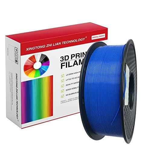 Filamento Stampante 3D PLA 1,75 mm, Filamento Stampa 3D PLA Per Stampante 3D e penna 3D, Precisione Dimensionale +/- 0,02 mm, bobina da1kg, filamento Blu PLA1,75 mm (Blu)