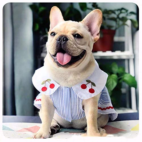 N / A Pet Dog Spring and Summer Clothes Pet French Bulldog Skirt Dress Summer Clothes Vest for Small Medium Dogs Puppy Teddy Bear Rabbit Pet Clothes are Pet Holiday Birthday Gifts