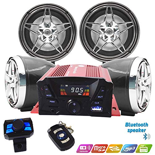 Buy Discount 12V Motorcycle Waterproof FM USB 4 Channel 3 Inch UTV ATV Bluetooth Amplifier Sound Sys...