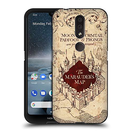 Head Hülle Designs Offizielle Harry Potter The Marauder's Map Prisoner of Azkaban II Schwarze Soft Gel Handyhülle Hülle Huelle kompatibel mit Nokia 4.2