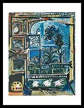 German Posters Pablo Picasso La Palomas Póster artístico (Impresión en Marco de Madera