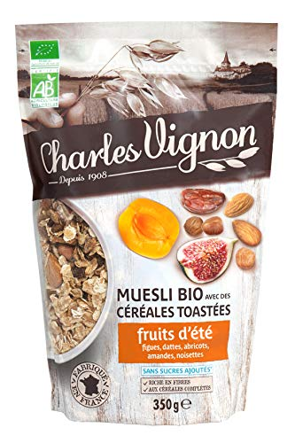 Muesli Bio Céréales Toastées Fruits d'Eté 350g Charles Vignon
