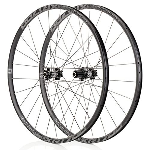 Bike Wheelset, 26/27.5 Pulgadas Mountain Bike Wheels Disc Freno de Disco Ultralight Alloy MTB Rim Fast versión 32 Agujeros 8/9/10/11,C-27.5inch