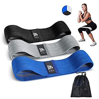CFX Resistance Bands 3 Sets, Premium Exercise Loops with Non-Slip Design for Hips & Glutes, 3 Resistance Level Workout Booty Bands for Women and Men,Best for Home Fitness,Yoga,