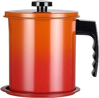 Flushzing Colador de Acero Inoxidable Filtro de Aceite Cuchara de Malla Fina Leche de Soja Aceite de Superficie tamizadora Escurridor
