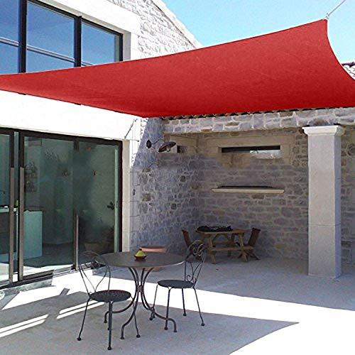 YUDEYU Filet D'ombrage Jardin Canal D'entrée Protection Solaire Balcon Rambarde Coupe-vent Intimité Filet De Protection (Color : Red, Size : 100x200cm)