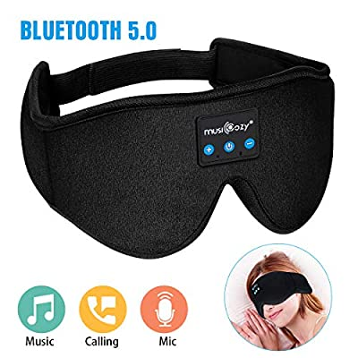 MUSICOZY Sleep Headphones Bluetooth Wireless Sleeping Eye Mask, Office Travel Unisex Gifts Men Women Who Have Everything Top Christmas Cool Tech Gadgets Unique Mom Dad Her Him Adults Teen Boys Girls by sleeping headphones bluetooth sleep mask wireless sle