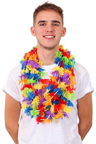 I LOVE FANCY DRESS LTD 24 Regenbogen BLUMENKETTEN DAS PERFEKTE ZUBEHÖR FÜR PARADEN & Sommer Feste. SUPER Sommer Strand Hawaii Gruppen & VEREINE ZUBEHÖR. Fragen SIE NACH GRÖßEREN MENGEN & MENGEN