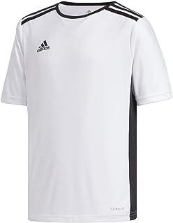 Boys' Entrada 18 AEROREADY Primegreen Recycled Materials Soccer Short Sleeve Jersey