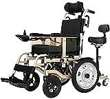 Silla de ruedas eléctrica plegable Silla de ruedas, silla de ruedas plegable portátil eléctrico, chasis de aleación de aluminio, Sistema de freno electromagnético, motor doble de ion-litio Para viajes