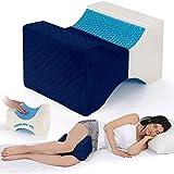 Almohada de apoyo a la rodilla, almohada de espuma viscoelástica para dormir lateral, ortopédica, embarazo, nervio ciático y alivio del dolor de espalda de cadera