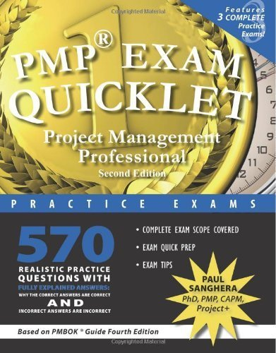 PMP Exam Quicklet, Second Edition: Project Management Professional Practice Exams 2nd edition by Sanghera, Paul (2009) Paperback