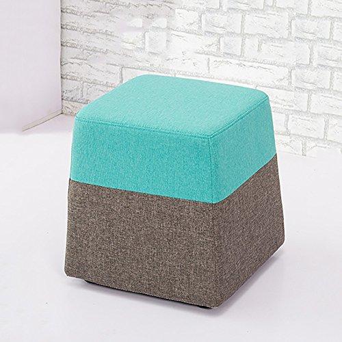 ZXQZ Tabouret de couleur créative / tissu salon canapé tabouret / tabouret de maquillage / Foyer changer de chaussures tabouret (5 couleurs disponibles) repose-pieds de stockage ( Couleur : B )