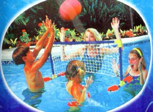 Haberkorn Schwimmtor Pool Volleyballnetz Volleyball Spiel