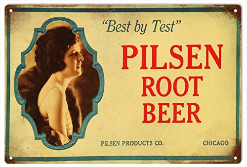 76DinahJordan Root Bier Tekenen Pilsen Wortel Bier Aluminium Soda Pop Art Decor Teken