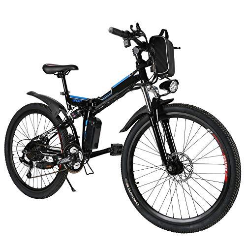 Speedrid Bicicletas eléctricas, Bicicletas Plegables eléctricas de 26 Pulgadas con Ruedas de aleación de magnesio, Bicicletas Electric City para Hombres Adultos Mujeres