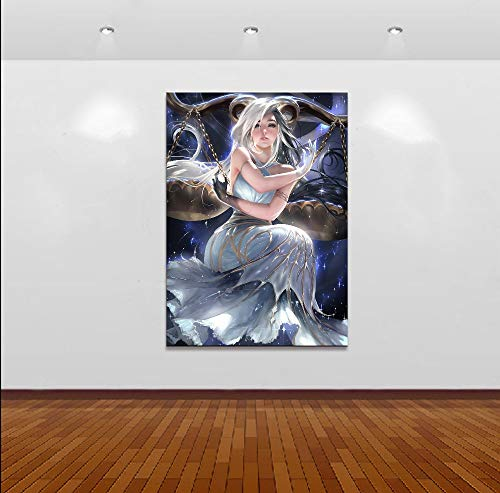 Nobrand canvasdruk Home Decor Modular Canvas Picture 1 Piece Horoscope Series Libra Painting Poster Art Wall for Home Canvas Painting