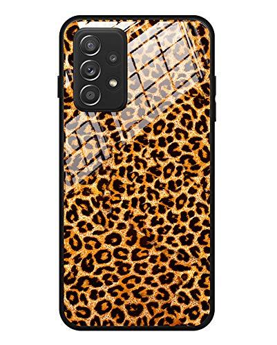 FundX Hülle für Samsung Galaxy A52 5G/4G - Leopard Muster Leopardenmuster mit Kameraschutz Schutzhülle Damen - rutschfest Handyhülle