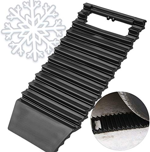 Snow Traction Mat & Ice Scraper for Car – 2 in 1 Winter Car Accessory Tire Traction Mats Ideal to Unstuck Your Car from Snow and Ice