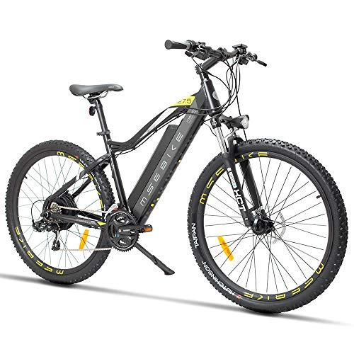 xianhongdaye Bicicleta eléctrica de montaña de 27.5 Pulgadas, batería de Litio Oculta, Bicicleta para Adultos, Resistencia de 5 velocidades, Bicicleta eléctrica de Velocidad Variable, 400 w-48V400W