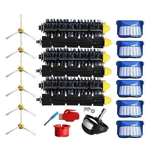 Kit de brosses de rechange pour aspirateur iRobot Roomba 600 614 650 660 675 680 690 avec filtre / brosse de nettoyage / seau de nettoyage / vis / rouleau / brosse latérale