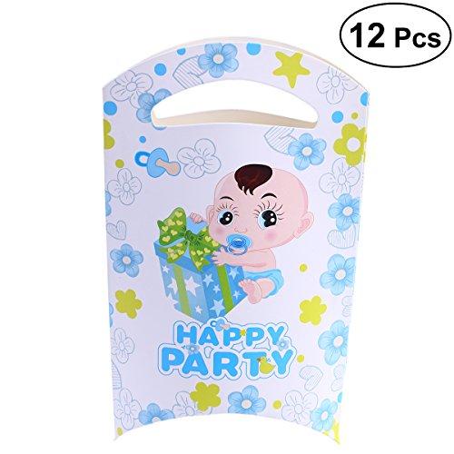 STOBOK 12 Stücke Halloween Papier Behandeln Taschen Sommer Crown Thema Party Favor Süßigkeiten Taschen Papier Behandeln säcke für Party Geschenk Süßigkeiten Cookie Cupcake Spielzeug (Junge)