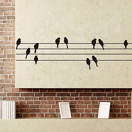 stronerliou Cable eléctrico y pájaros Pegatina Sala de Estar Dormitorio telón de Fondo Pared calcomanía Decorativa