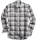 Amazon Brand - Goodthreads Men's Standard-Fit Long-Sleeve Plaid Herringbone Shirt, Medium Grey Heather, XX-Large