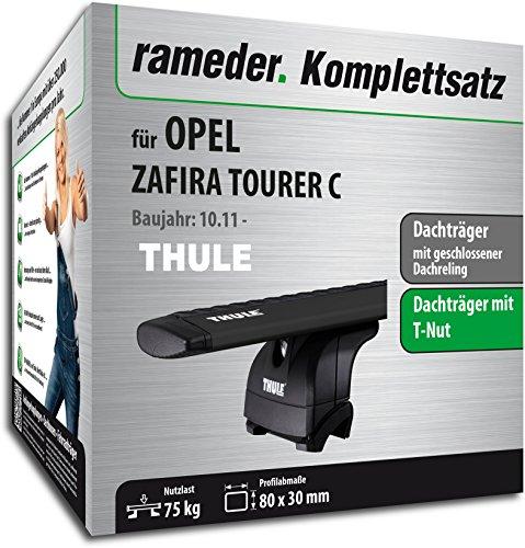 rameder Juego completo, Baca Wingbar para Opel Zafira Tourer C (118503–09717–1)