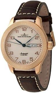 Zeno Watch Basel - Reloj para Hombre Analógico Automático con Brazalete de Cuero 11554DD-Pgr-f2