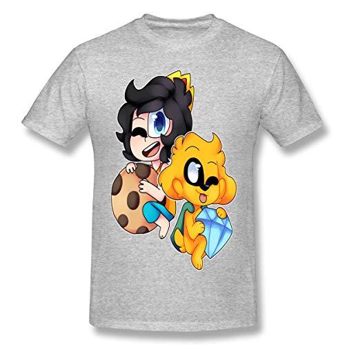 Mikec-Rack Camiseta de manga corta con impresión 3D, cuello redondo, color negro