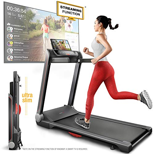Sportstech FX300 Ultra Slim Treadmill - German Quality Brand - Event Videos & Multiplayer...