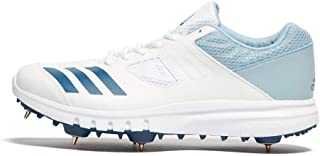 Howzat Mens Adult Cricket Trainer Spikes Shoe White/Blue