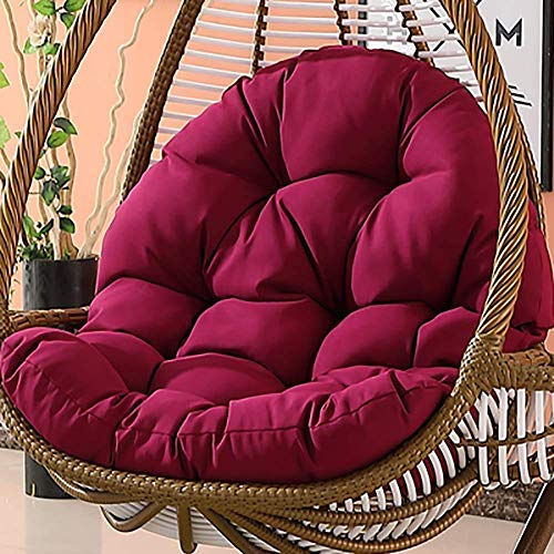 Yxxc Hanging Basket Chair Cushions,Large Seat Cushion Waterproof Hanging Egg Hammock Chair Back,Soft Swing Chair Cushion Without Stand Purple 120x90cm