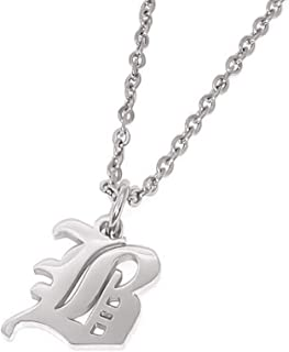 initial necklace f