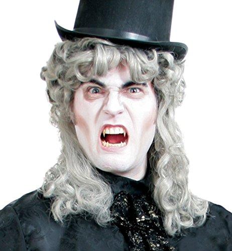 Perruque Vampire prince Léopold d'argent